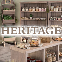 Héritage van oud grenen - bruin