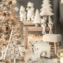 Kerst bevroren natuur