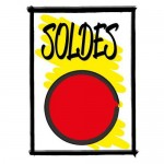 Affiche bol rood SOLDES - A4