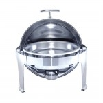 Chafing dish rond in roestvrij staal 6 liter Ø48x47cm