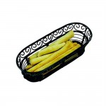 Fingerfood mand in zwart staal 22,8x9,3x6,4cm - per 6