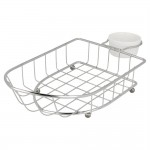 Fingerfoodmand in roestvrij staal + 1 pot 24,7x12,7cm - per 6