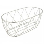 Fingerfoodmand Toscane in roestvrij staal 25,5x12,7x10,2cm - per 12
