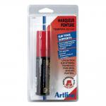 Permanente stift Tempera - rood - 20 mm - per stuk