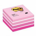 Post-it kubus aquarelle roze 76 x 76 mm