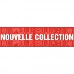 Poster nouvelle collection 100x25cm rood wit (FR)