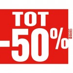 Poster tot-50% 80x60cm rood