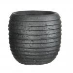 Ronde pot Lloyderracotta in antraciet  18 x h.19cm