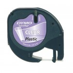 Tape Dymo LetraTAG 12mm x 4m transparant