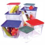 Voedselcontainer 4L 18x18x19cm transparant