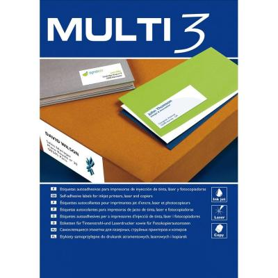 Witte etiketten multifunctionele 63.5x38.1mm door  2100-Multifunctioneel papier